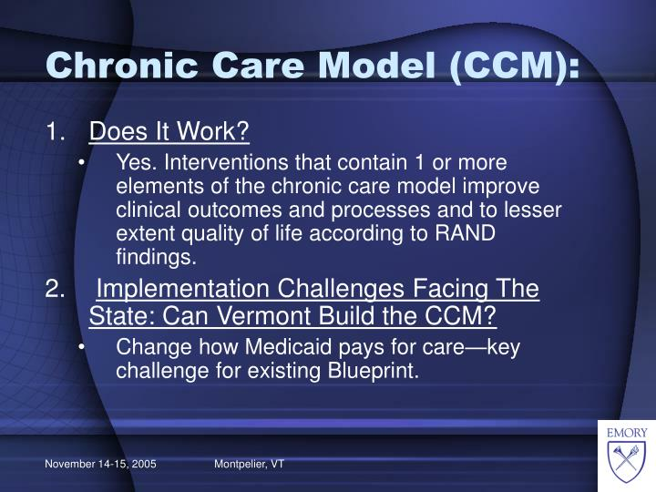 Chronic Care Model (CCM):