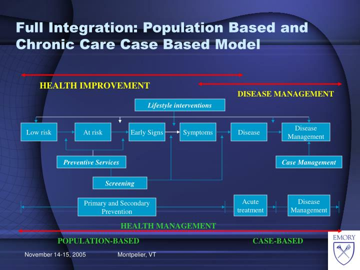 Full Integration: Population Based and Chronic Care Case Based Model