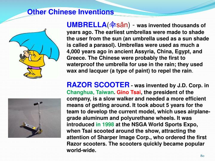 Other Chinese Inventions