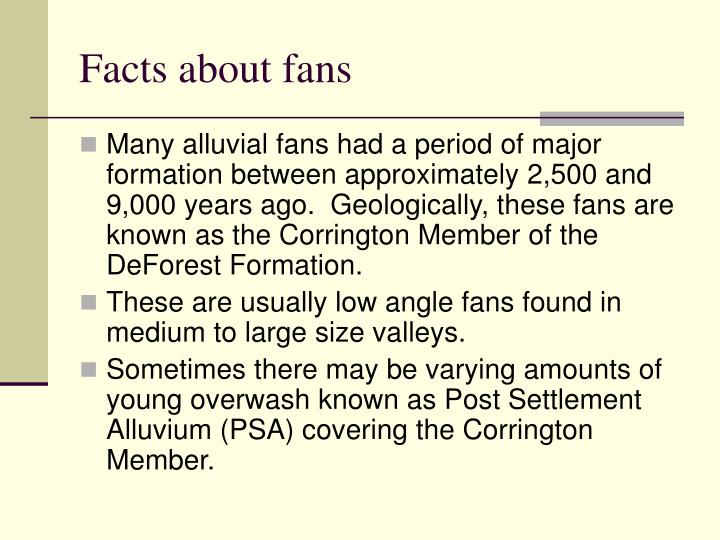 Facts about fans
