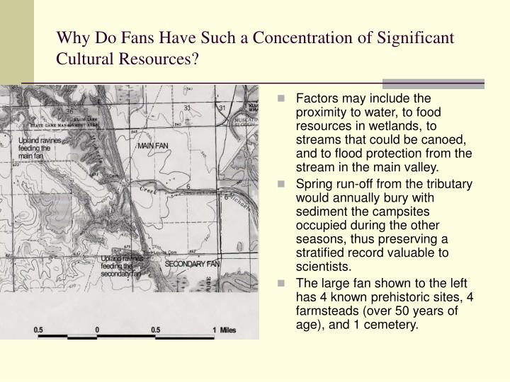 Why Do Fans Have Such a Concentration of Significant Cultural Resources?