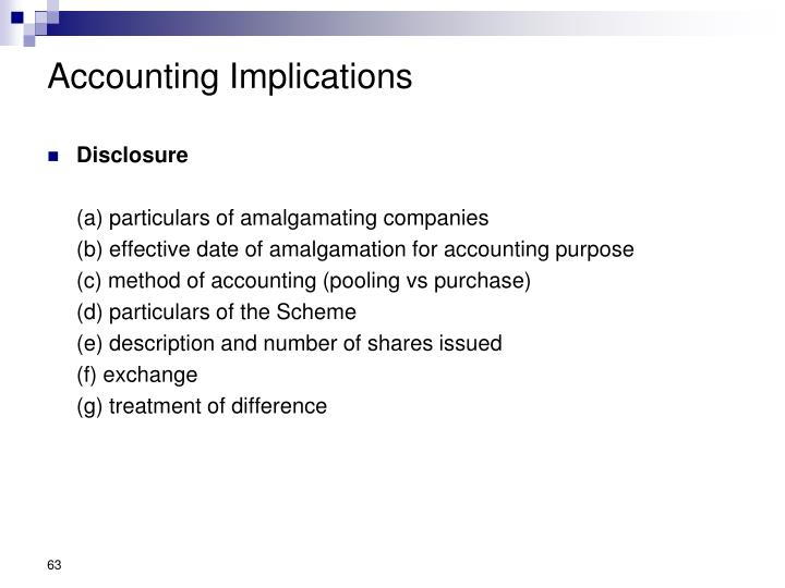 Accounting Implications
