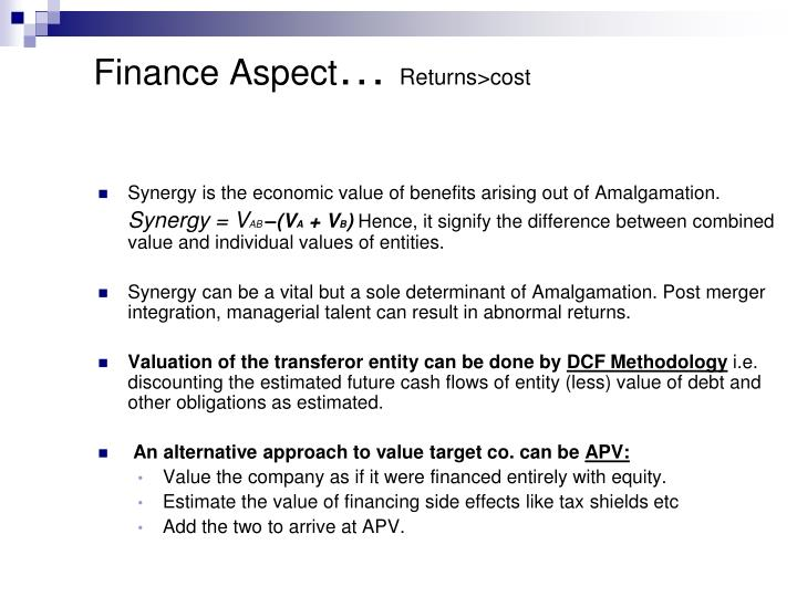Finance Aspect