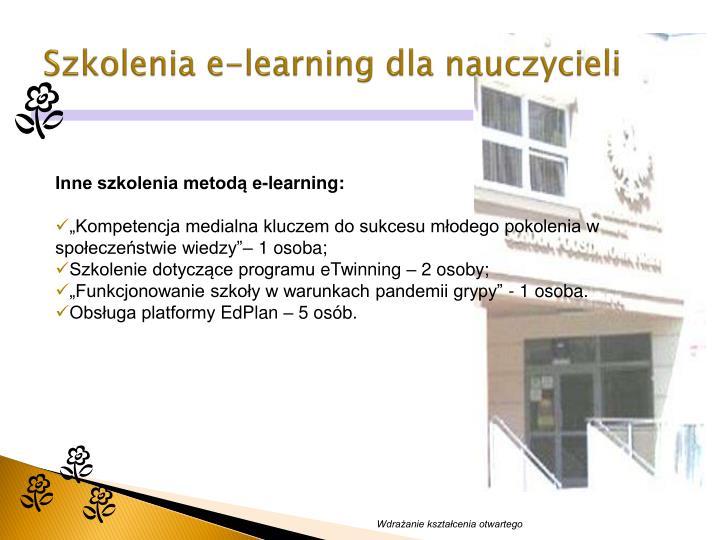 Szkolenia e-learning dla nauczycieli