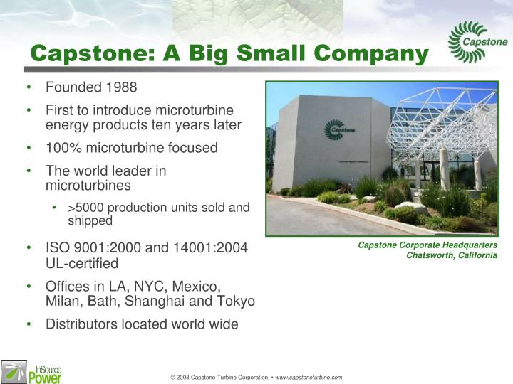 Capstone: A Big Small Company