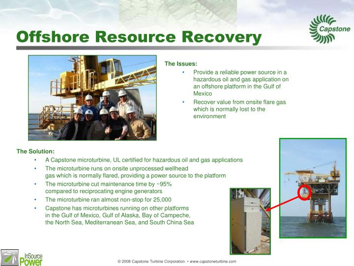 Offshore Resource Recovery