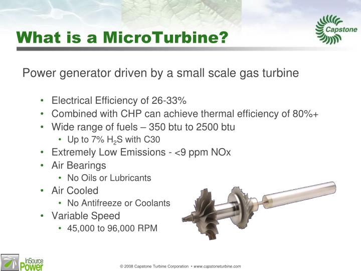 What is a microturbine