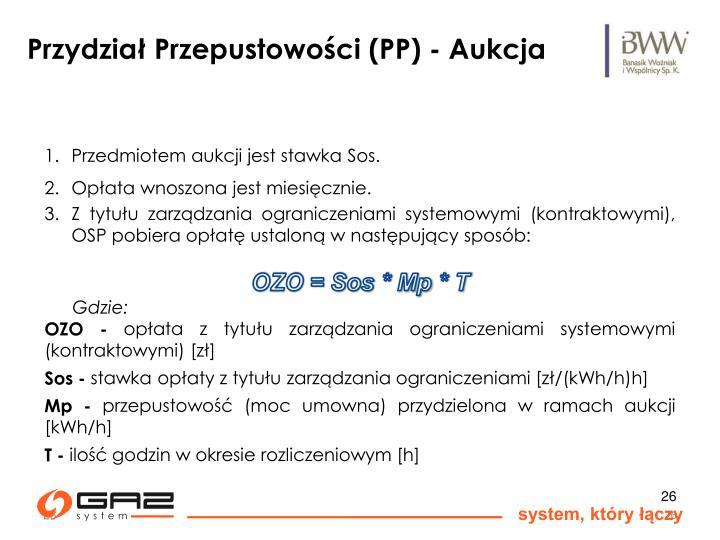 Przydział Przepustowości (PP) - Aukcja
