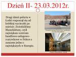 dzie ii 23 03 2012r