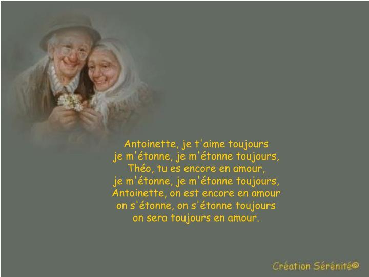 Antoinette, je t'aime toujours
