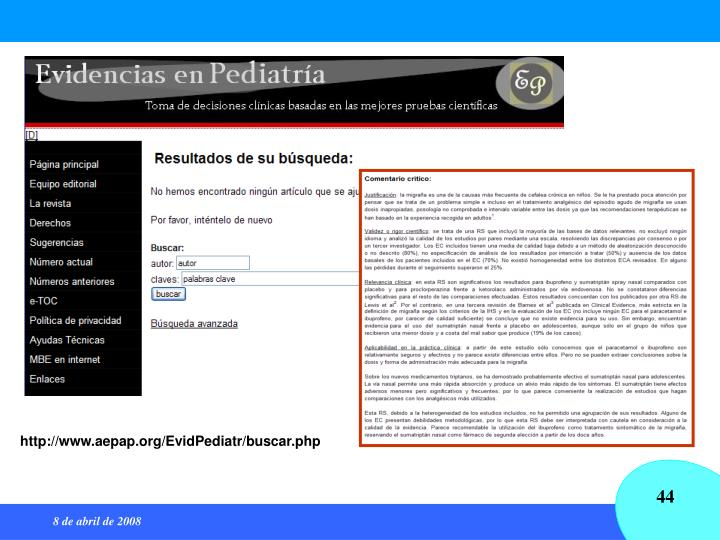 http://www.aepap.org/EvidPediatr/buscar.php