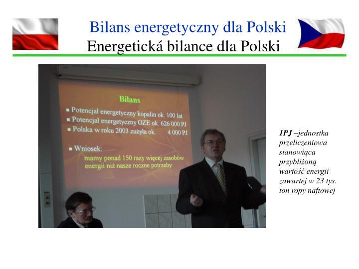 Bilans energetyczny dla Polski