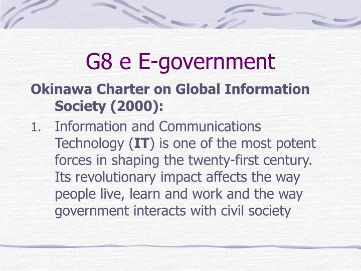 G8 e E-government