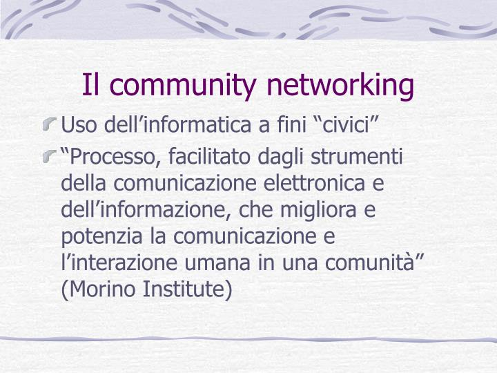 Il community networking
