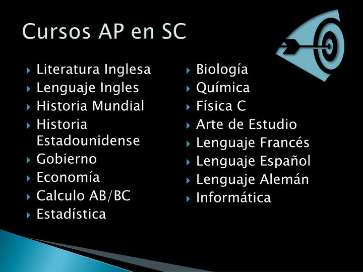 Cursos AP en SC