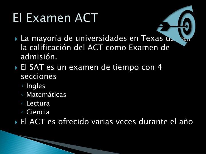 El Examen ACT
