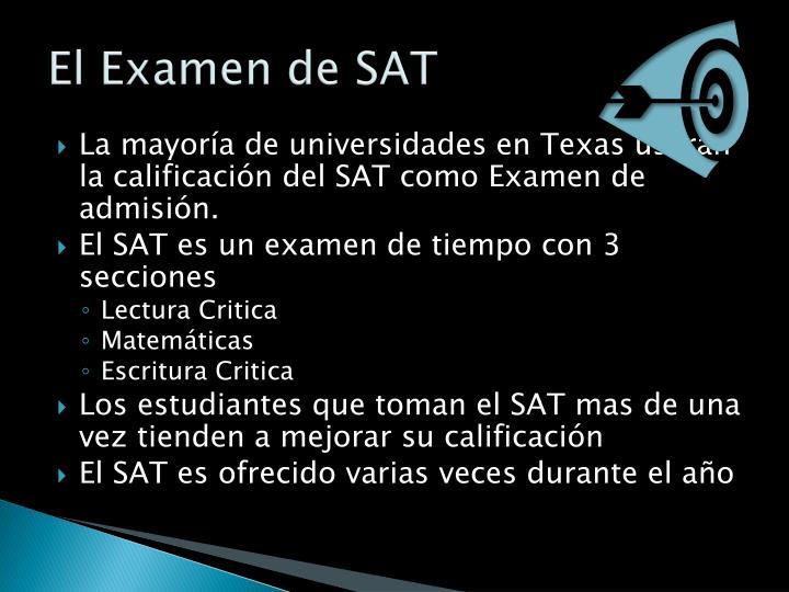 El Examen de SAT