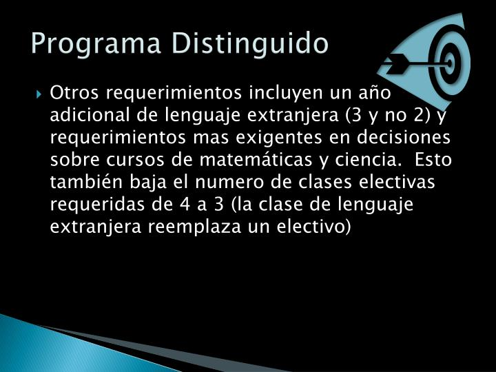 Programa Distinguido