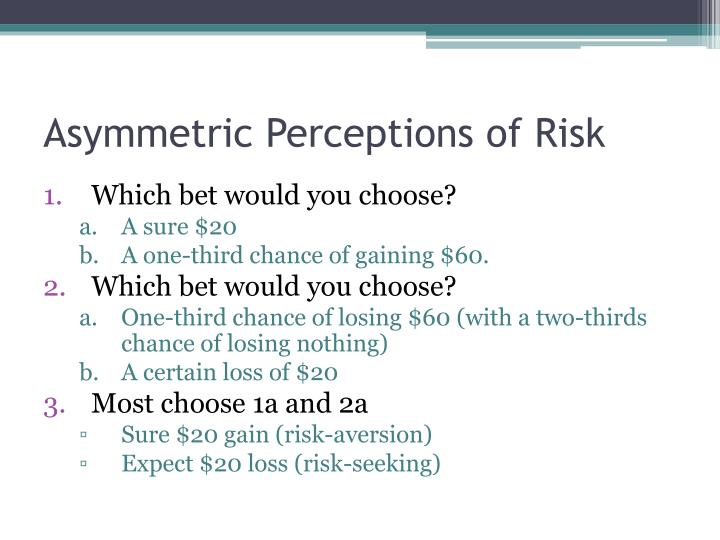 Asymmetric Perceptions of Risk