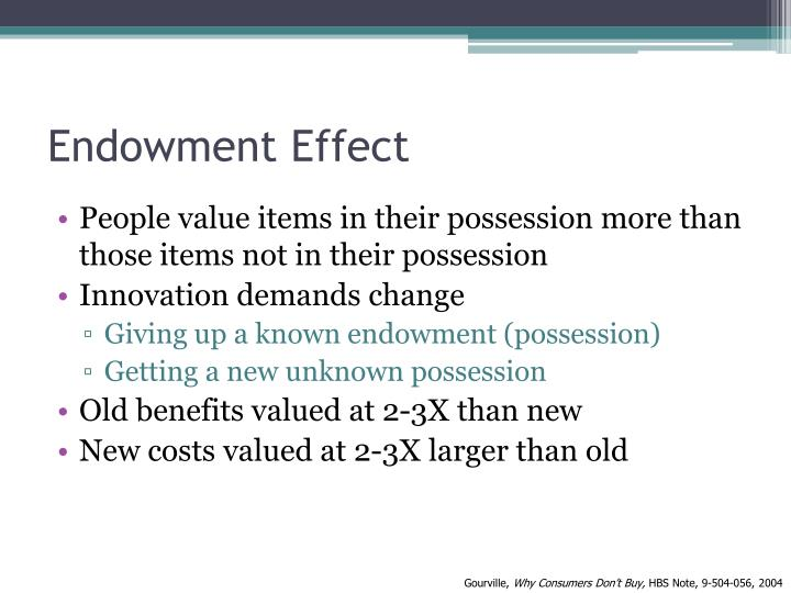 Endowment Effect