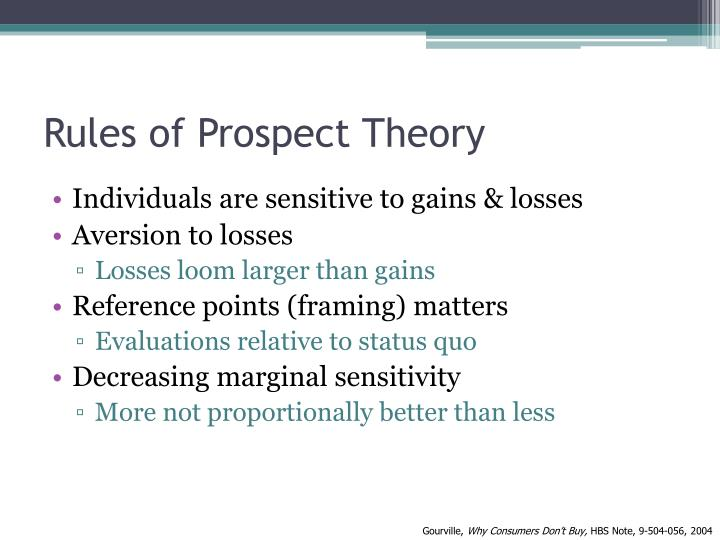Rules of Prospect Theory