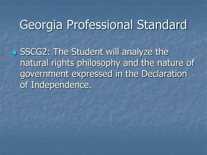 Georgia Professional Standard