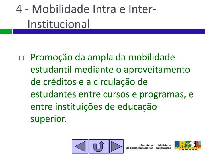 4 - Mobilidade Intra e Inter-Institucional