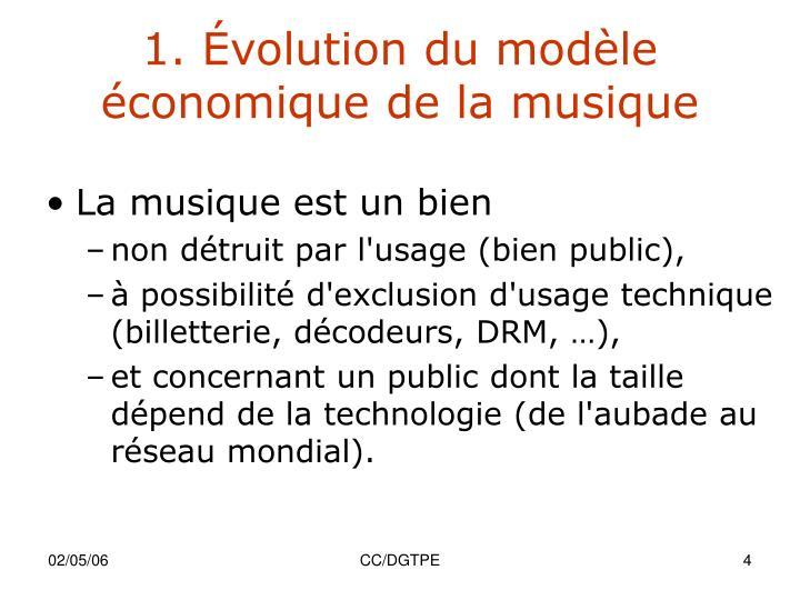 1. Évolution du modèle économique de la musique
