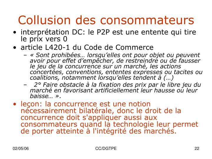 Collusion des consommateurs