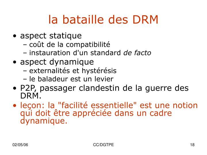 la bataille des DRM