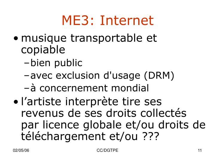 ME3: Internet