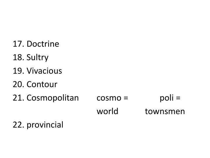 17. Doctrine