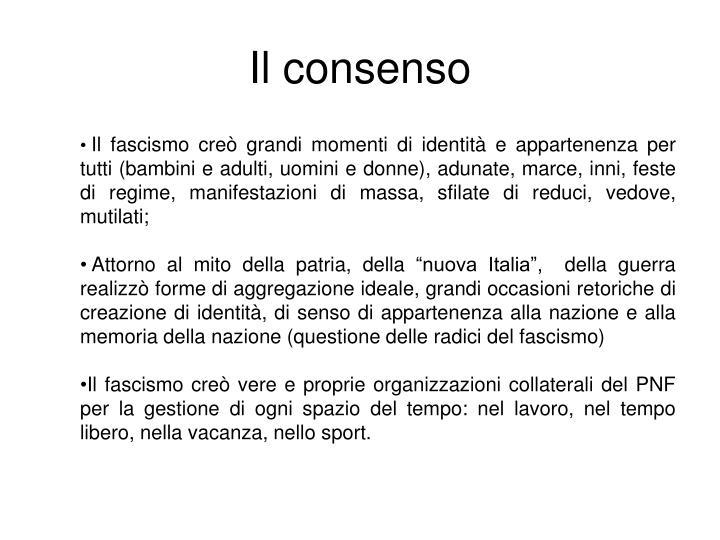 Il consenso