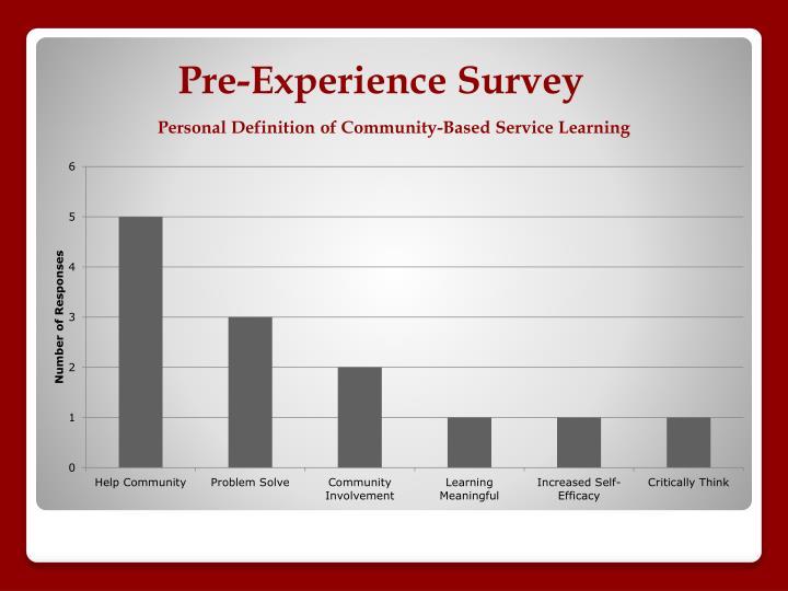 Pre-Experience Survey