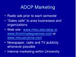 adcp marketing