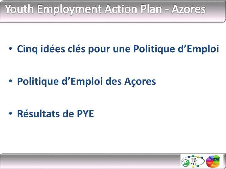 Youth employment action plan azores