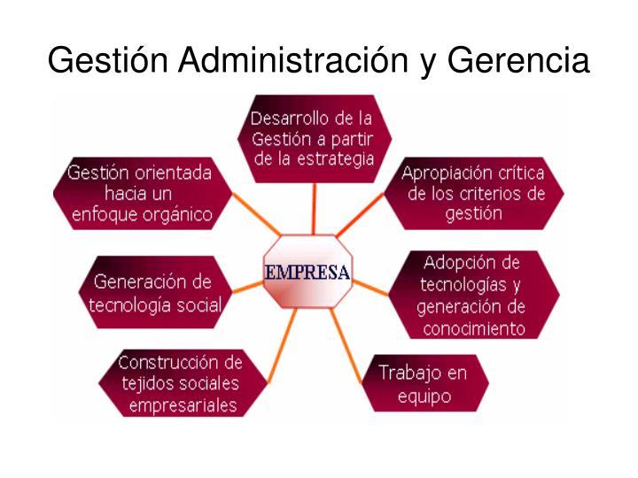 Gestión Administración y Gerencia