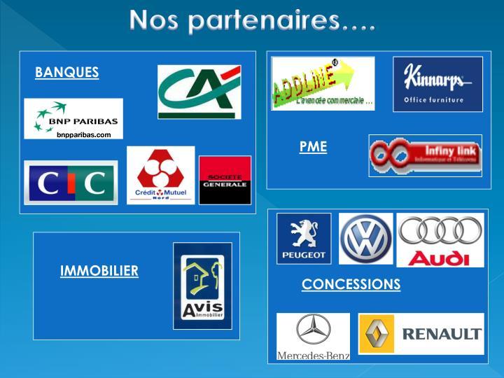 Nos partenaires….