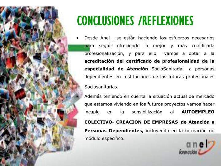 CONCLUSIONES /REFLEXIONES