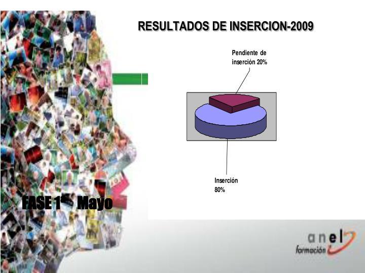 RESULTADOS DE INSERCION-2009