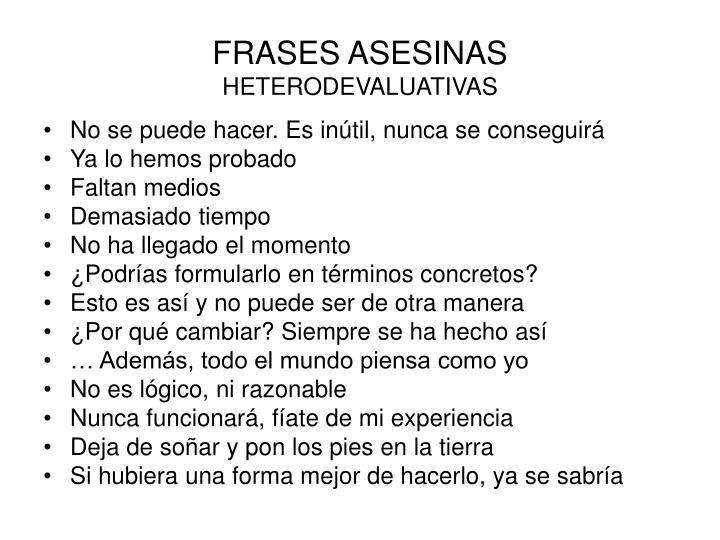 FRASES ASESINAS