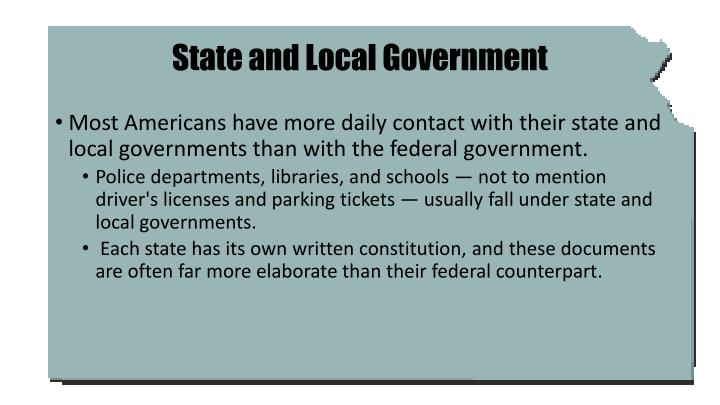 State and local government1