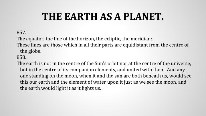THE EARTH AS A PLANET.