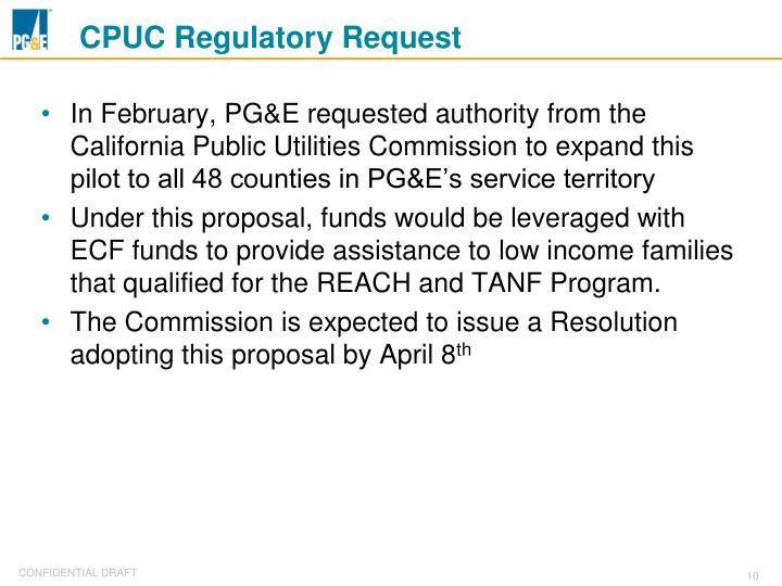 CPUC Regulatory Request