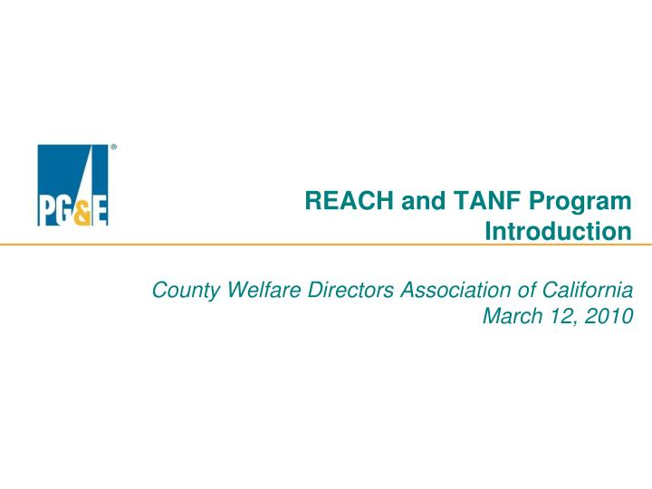 REACH and TANF Program