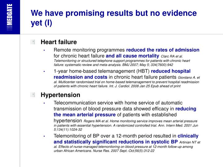 We have promising results but no evidence yet (I)