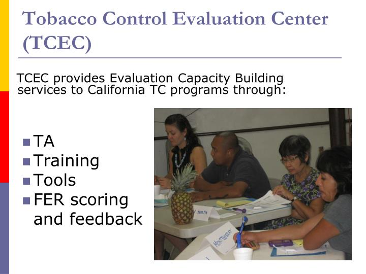 Tobacco Control Evaluation Center (TCEC)