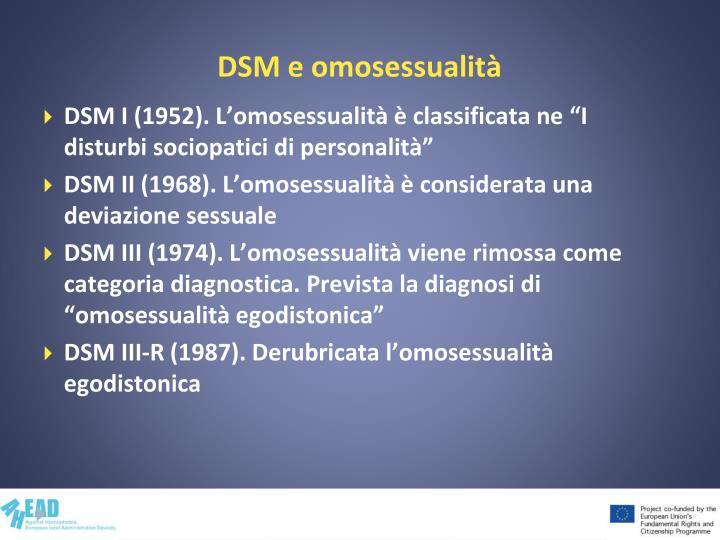 DSM e omosessualità