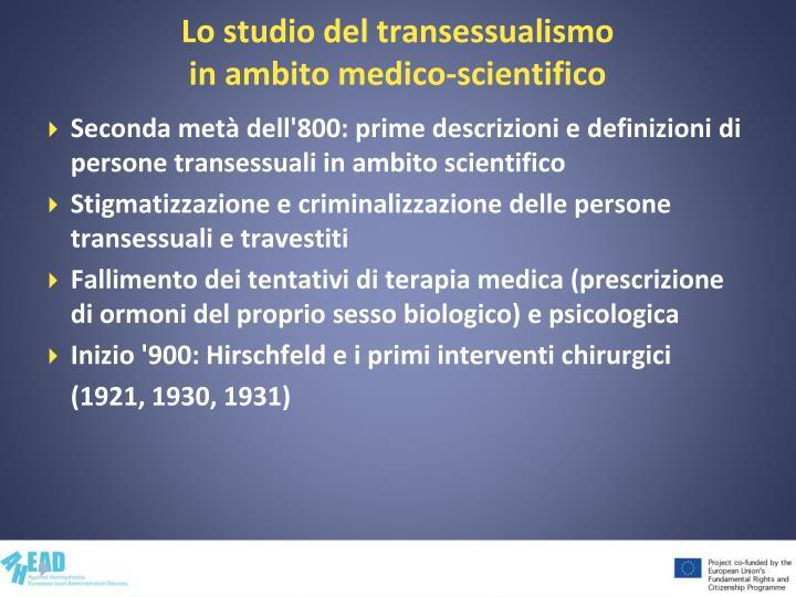 Lo studio del transessualismo