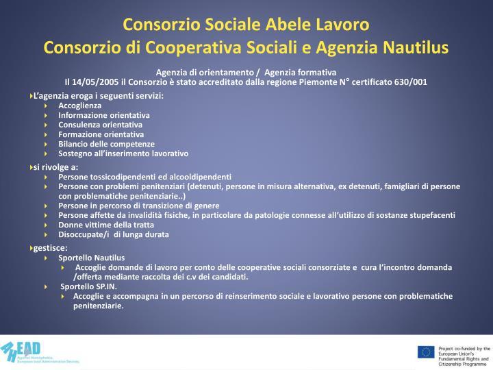 Consorzio Sociale Abele Lavoro